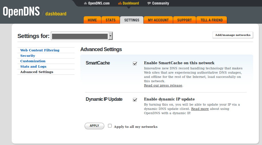 OpenDNS Dynamic IP