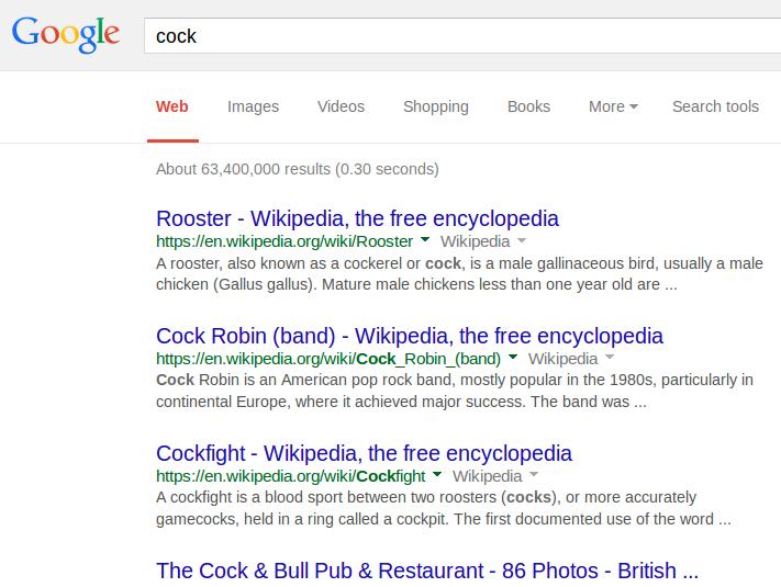 google-cock-web