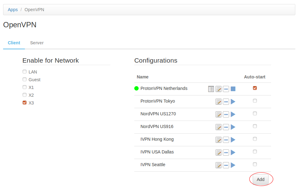 How to set up a VPN client connection on the pcWRT router